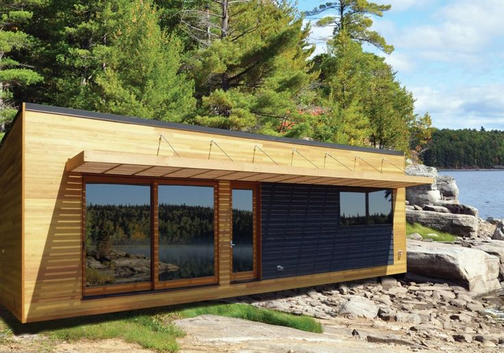 Cool Dream Prefabricated Home Design Ideas. Minimalist Portable Wood River  Prefab Home Design with Small Foldable P | Pinteres