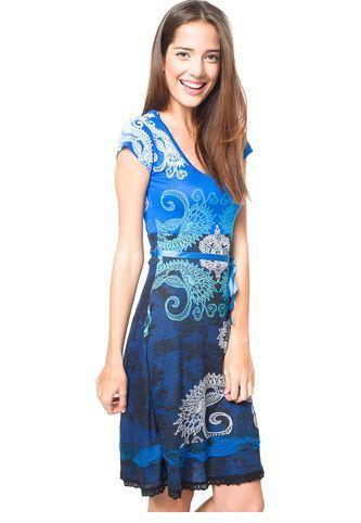 Vestido Multicolor Azul Desigual Desigual