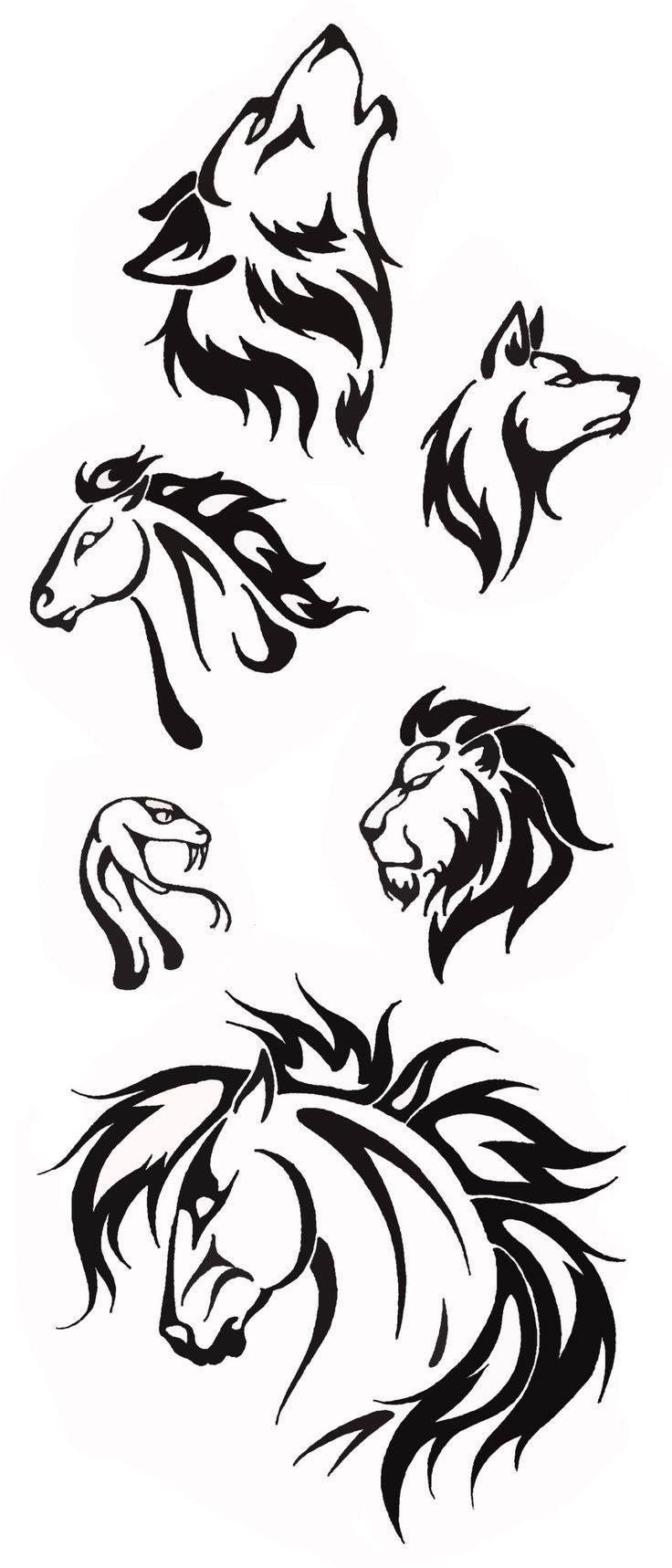 картинки татуировок в виде животных этот