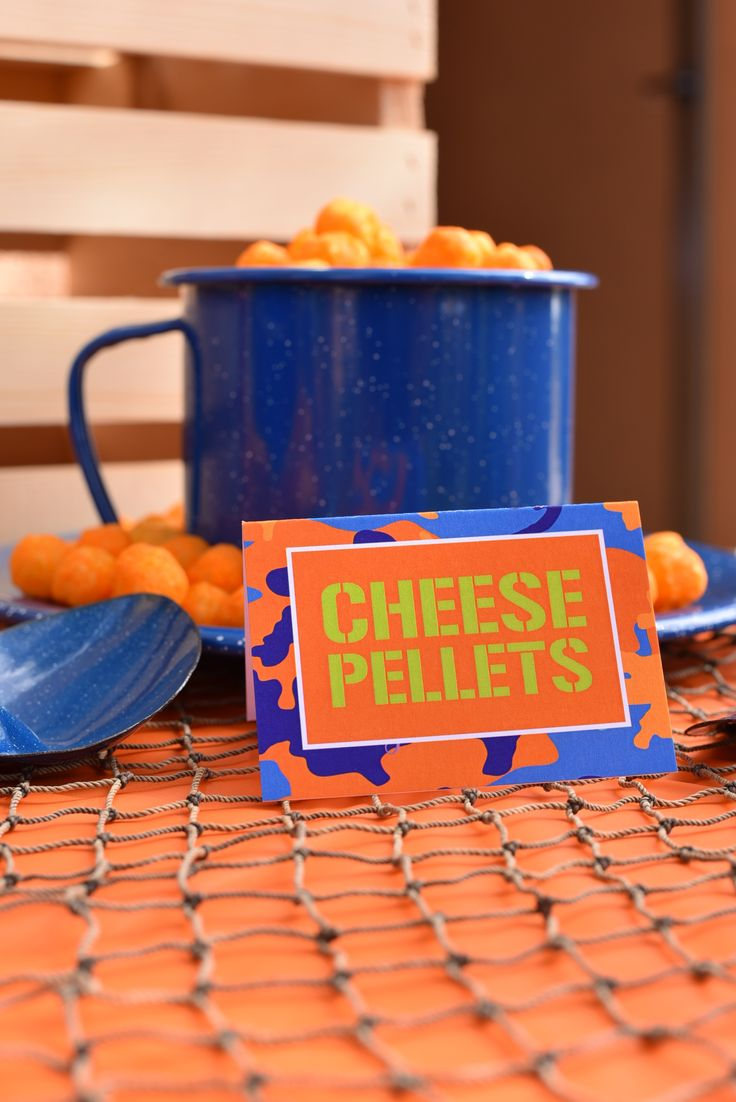 Nerf Party Food Ideas: Cheese ball pellets                                                                                                                                                      More