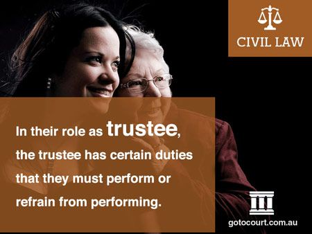 In its simplest form, a trust exists when one person holds an interest in property on trust for another person.  They are an extremely common legal structure which we interact with in our day to day lives.  Read more: Trustee Duties in the Northern Territory, Link: https://www.gotocourt.com.au/civil-law/nt/trustee-duties-in-the-northern-territory/