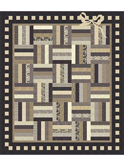 """Sweet and simple pattern that uses precuts!   Use up that collection of Jelly Roll strips you've been saving to make this adorable pattern that would be ideal as a baby quilt or even just as a darling throw. It uses 2 1/2"""" Jelly Roll strips and ..."""