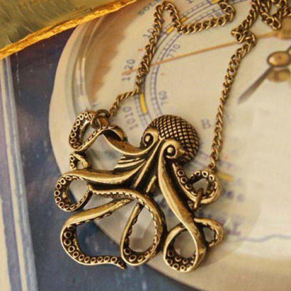 $2.63 Retro Style Octopus Shape Pendant Alloy Women's Necklace