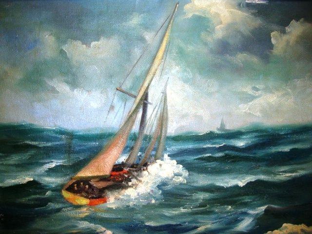 boat on heavy seas