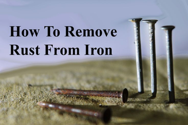 Experiment - How to remove Rust From Iron