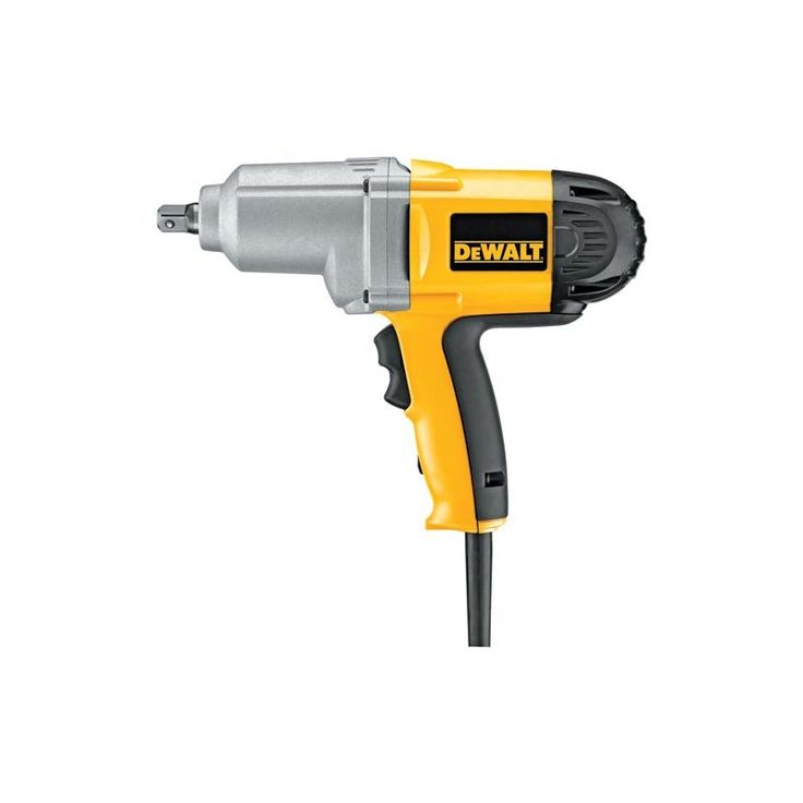 "Dewalt DW292 1/2"" Impact Wrench with Detent Pin Anvil and 345 Foot Pound Torque Power Tools Drills / Drivers Impact Wrenches"