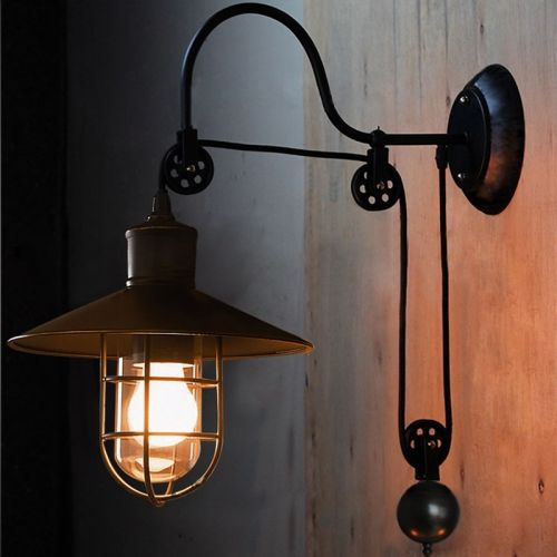 Vintage Black Adjustable 1 Light Industrial Wall Sconce Lighting,Wall Sconces
