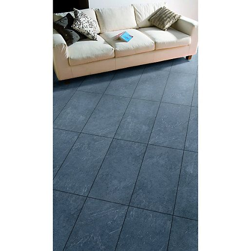 Wickes Mustang Slate Tile Effect Laminate Flooring 2 5m2