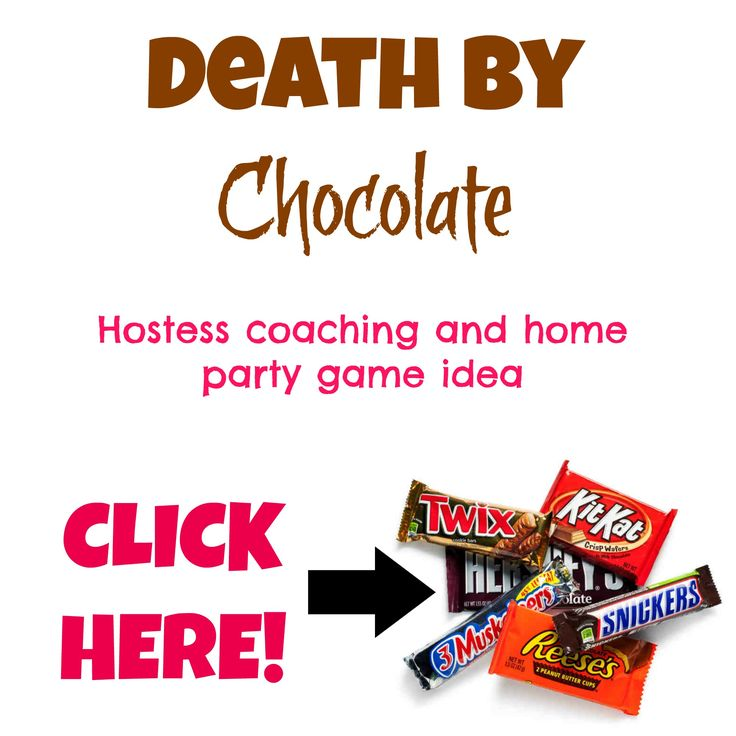 """So here is something SO fun and SO effective to do at your next home party! My friend Melanie Moore shared this idea with me. It's called Death by Chocolate. And this is a hostess coaching """"trick""""...."""