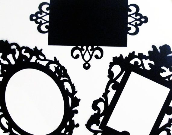 NEW COLORS AVAILABLE 2 Ornate Photo Booth by PAPERandPANCAKES, $15.00