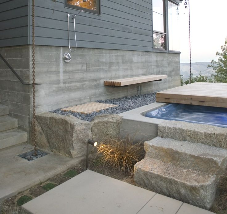 hot tub landscaping | landscape pavers & hot tub | Architectural Details