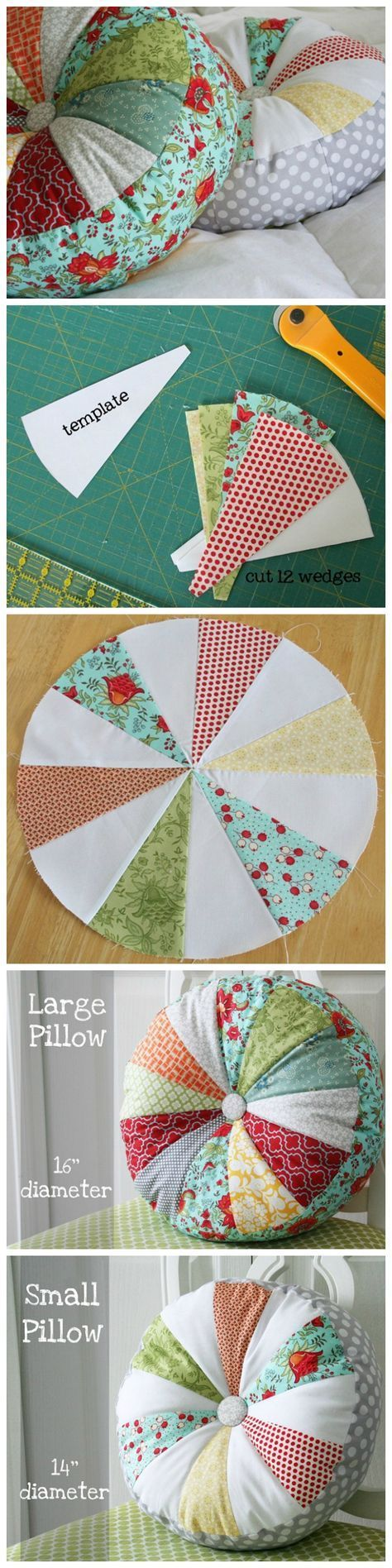 DIY Sprocket Pillows Tutorial and template to downlod