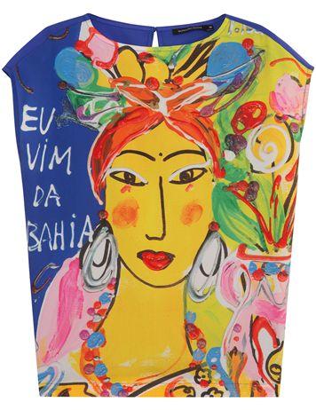 Top flou imprimé Isabelle Tuchband - Le Brésil s'invite chez Monoprix - 35€