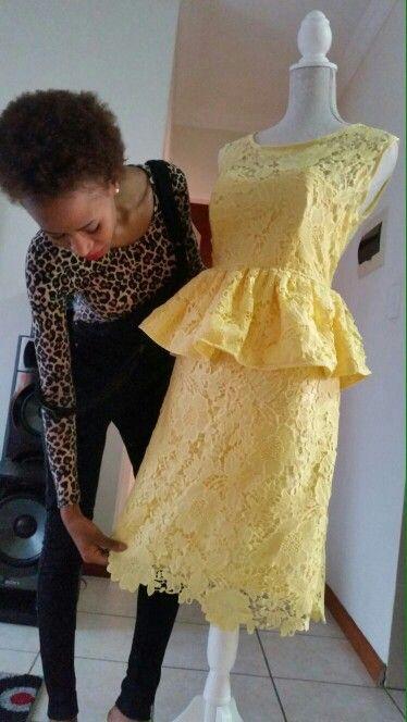 Bridesmaid's dress  Lace peplum power