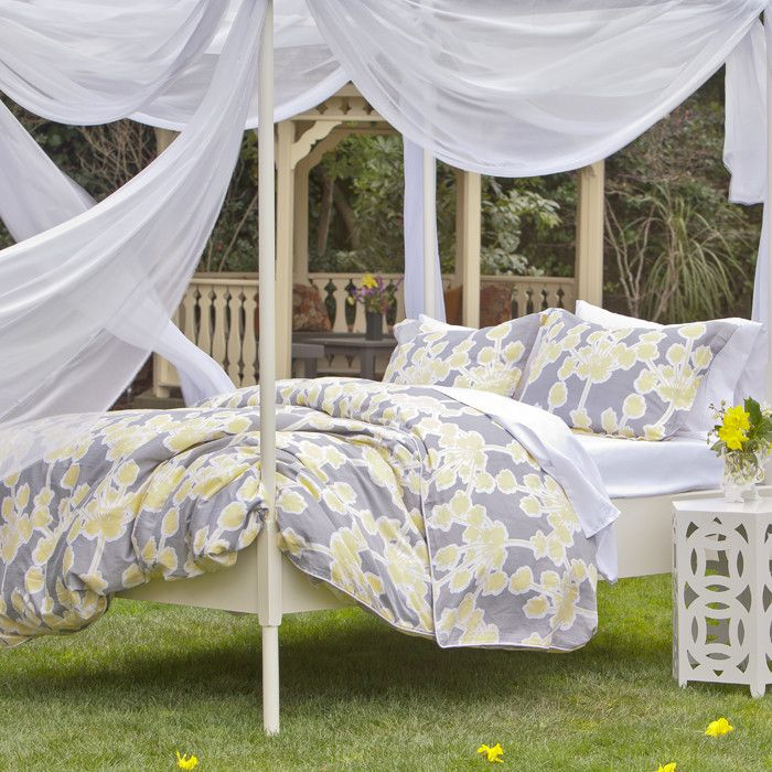 whimsical bedding under a canopy - Yellow Canopy Decor