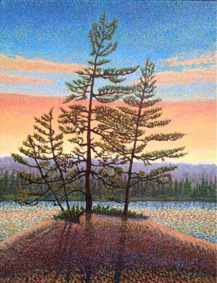 On display at the Mad Musher Shore Pines, Algonquin  2015 Oil 14 x 11 in @Mark_Sanche @EclipseArt @algonquinoutfit