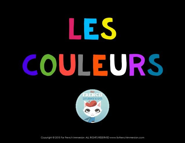 """French Colors Introduction - Les Couleurs (with """"brun"""")"""