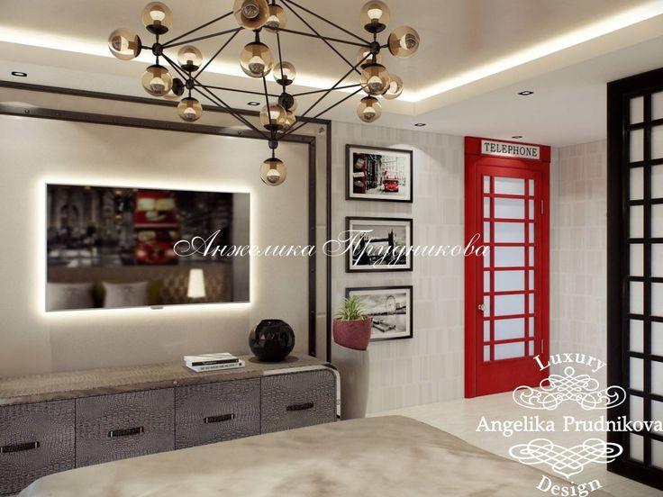 Дизайн интерьера детской комнаты в стиле Лондон - фото