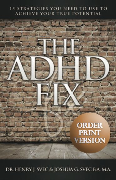 "In ""The ADHD Fix"", father & son authors Dr. Henry & Joshua Svec discuss their prof. & personal experience with ADHD, addressing myths & testifying to the underlying potential in every diagnosis.      Dr. Henry Svec has spent the past 20 years helping kids & adults with ADHD achieve success by developing tools & strategies to overcome associated obstacles. The victories of his son Joshua vouch for the effectiveness of the strategies disclosed in this book, which includes a chapter about…"