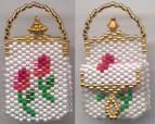TWO ROSEBUDS MINIATURE PURSE by Suzanne Cooper