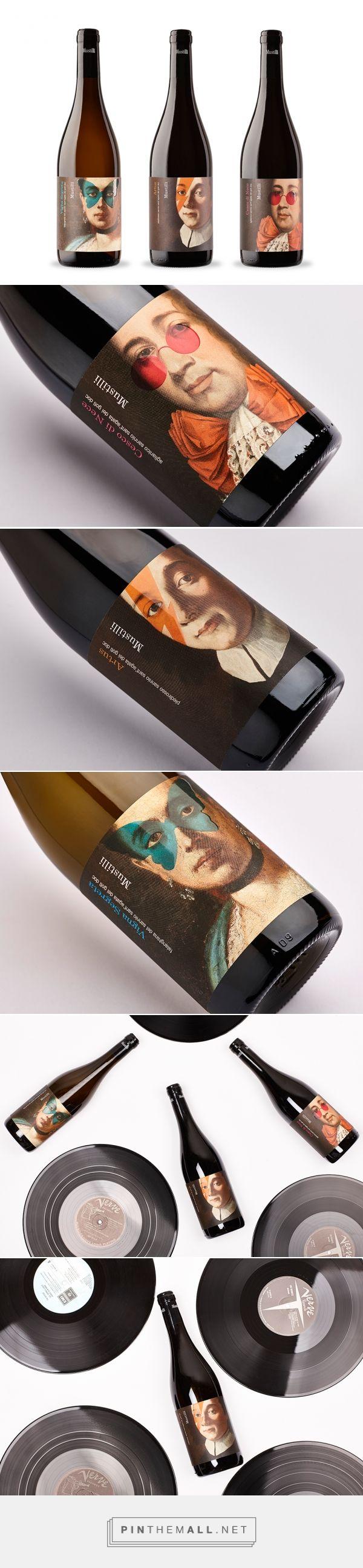 Mustilli - the Ancestors wine label design by nju:comunicazione - http://www.packagingoftheworld.com/2016/11/mustilli-ancestors.html