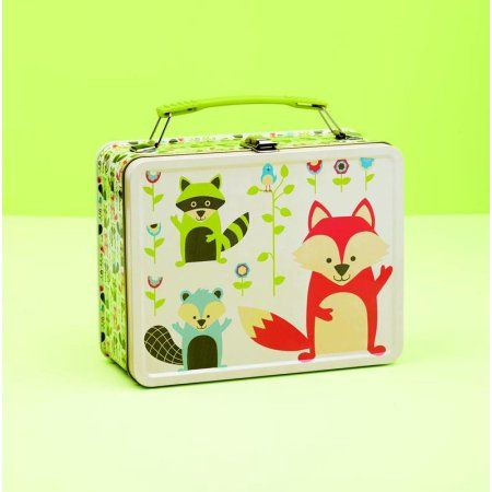 SugarBooger Metal Lunch Box What did the Fox Eat, Multicolor