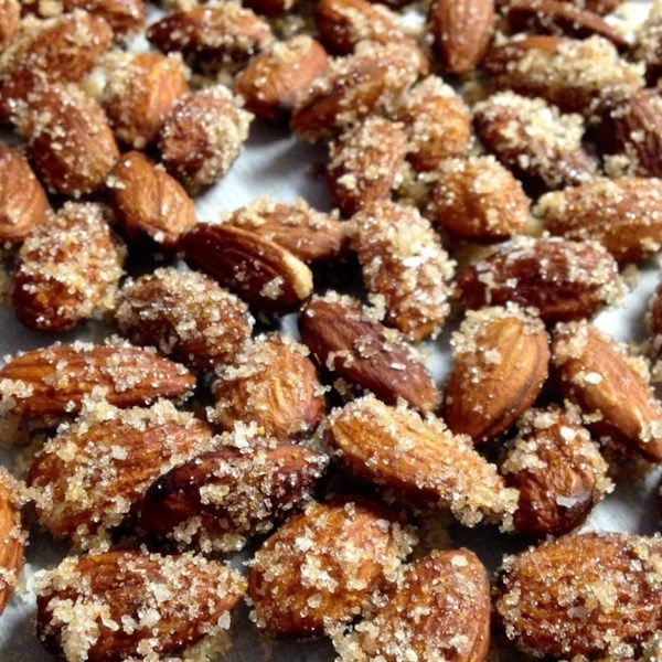 """Sweet and Spicy Almonds   """"An addictive snack that's great for parties or just having around the house--you'll be amazed how quickly they disappear!"""" #recipe #newyearseve #holidays #appetizer"""