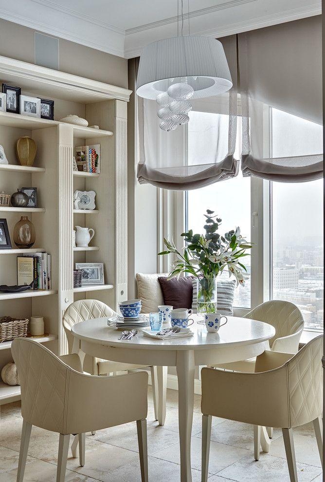 Выбираем тюль на кухню: 50+ эстетических решений для воздушного интерьера http://happymodern.ru/tyul-na-kuxnyu-59-foto-sozdaem-legkij-i-vozdushnyj-interer/ Римские шторы из легкого прозрачного материала. Переходный стиль оформления кухни позволяет выбрать потолочный карниз даже после того, как закончены строительно-ремонтные работы с потолком. В этом легко поможет декоративный багет