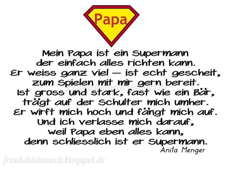Schöner Spruch für den Papa / Print für Vatertag oder Geburtstag / www.fraukskleinewelt.blogspot.de
