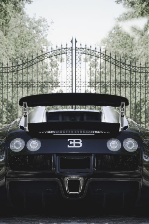 Bugatti-Veyron 0-60mph in 2.4 seconds, the fastest road-legal production car in the world, with a top speed of 268 mph.