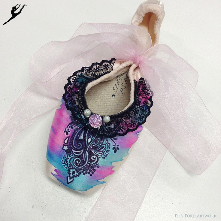 Energetiks Hand Decorated Pointe Shoes by @artelf | Online Now!
