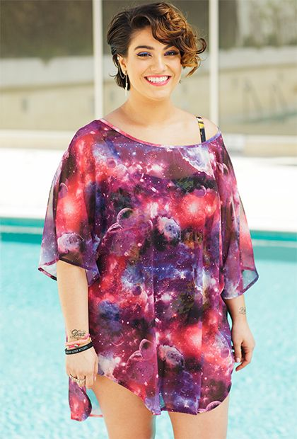 GabiFresh for s4a Sheer Galaxy T-Shirt--I need this cute coverup for my bland swimsuits!!
