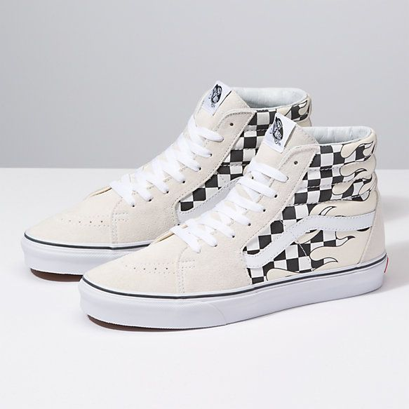 Checker Flame Sk8-Hi. Checker Flame Sk8-Hi Checkered Outfit 88b8cb8c2