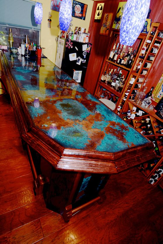 Azul Copper Bar Top And Epoxy Coating Top Ideas)