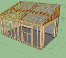 les 26 meilleures images du tableau travaux sur pinterest | maison ... - Construction D Un Garage En Bois