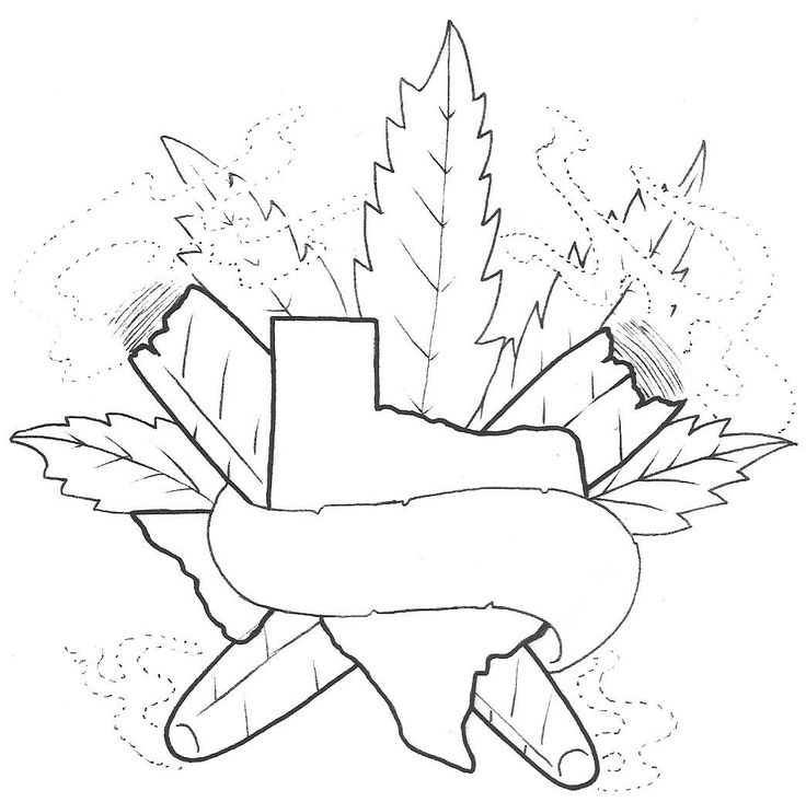 weed leaf coloring pages - 13 best smoke weed tattoo stencil images on pinterest