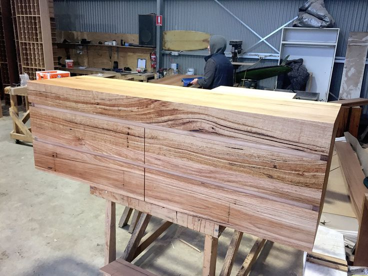 solid timber vanity 2 rows of drawers