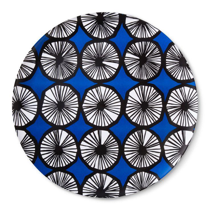 Round Serving Tray - Appelsiini Print - Blue - Marimekko for Target