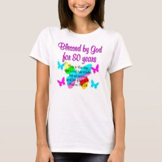 80TH BIRTHDAY PRAYER T-Shirt Make turning 80 years old memorable with our treasured Christian 80th birthday gifts. http://www.zazzle.com/jlpbirthday/gifts?cg=196105095260308256&rf=238246180177746410  #80thbirthday #80yearsold #Happy80thbirthday #80thbirthdaygift #80thbirthdayidea #80yroldChristian  #happy80th #Blessed80th