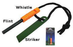 2 in 1 Flint Fire Starter and Whistle FS371WW