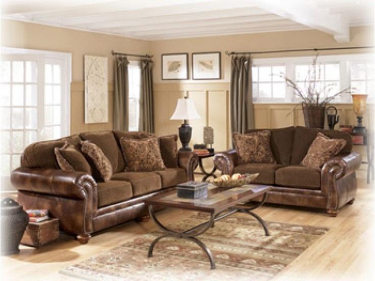 Harrington   Truffle Traditional Stationary Sofa By Signature Design By  Ashley   Walkeru0027s Furniture   Sofa Spokane, Kennewick Washington, Coeur  Du0027Alene ...