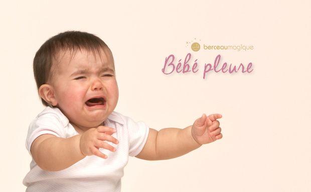 Les pleurs sont différents selon l'âge de l'enfant et ses besoins. Berceau Magique vous apprend à comprendre votre bébé qui pleure.