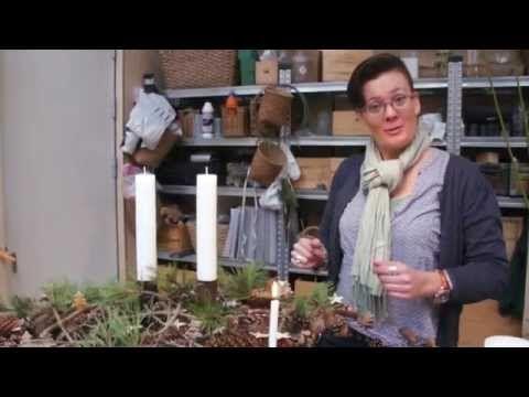 """Julehygge i """"Blomsterværkstedet"""" - YouTube"""