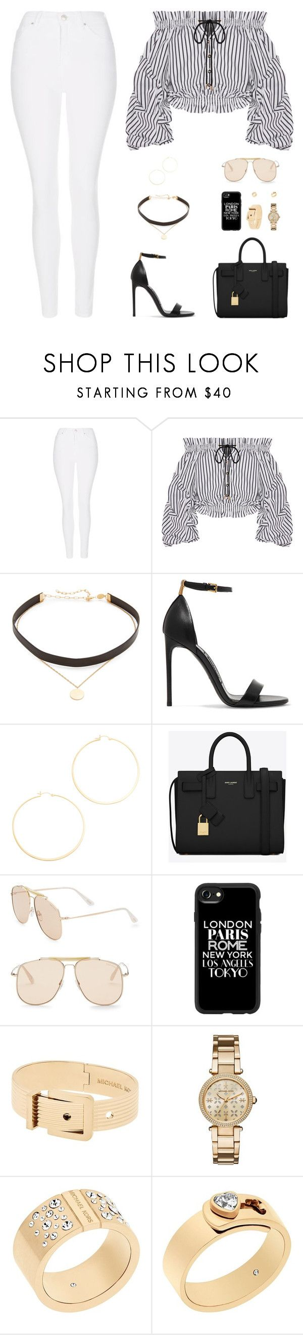 """Sin título #4974"" by mdmsb on Polyvore featuring moda, Topshop, Caroline Constas, Jennifer Zeuner, Tom Ford, Yves Saint Laurent, Casetify y Michael Kors"