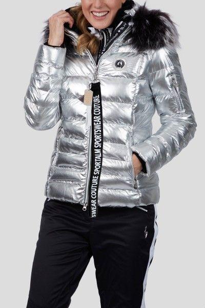 eaa96790b3 Sportalm Women Francis Jacket with Fur - Grey