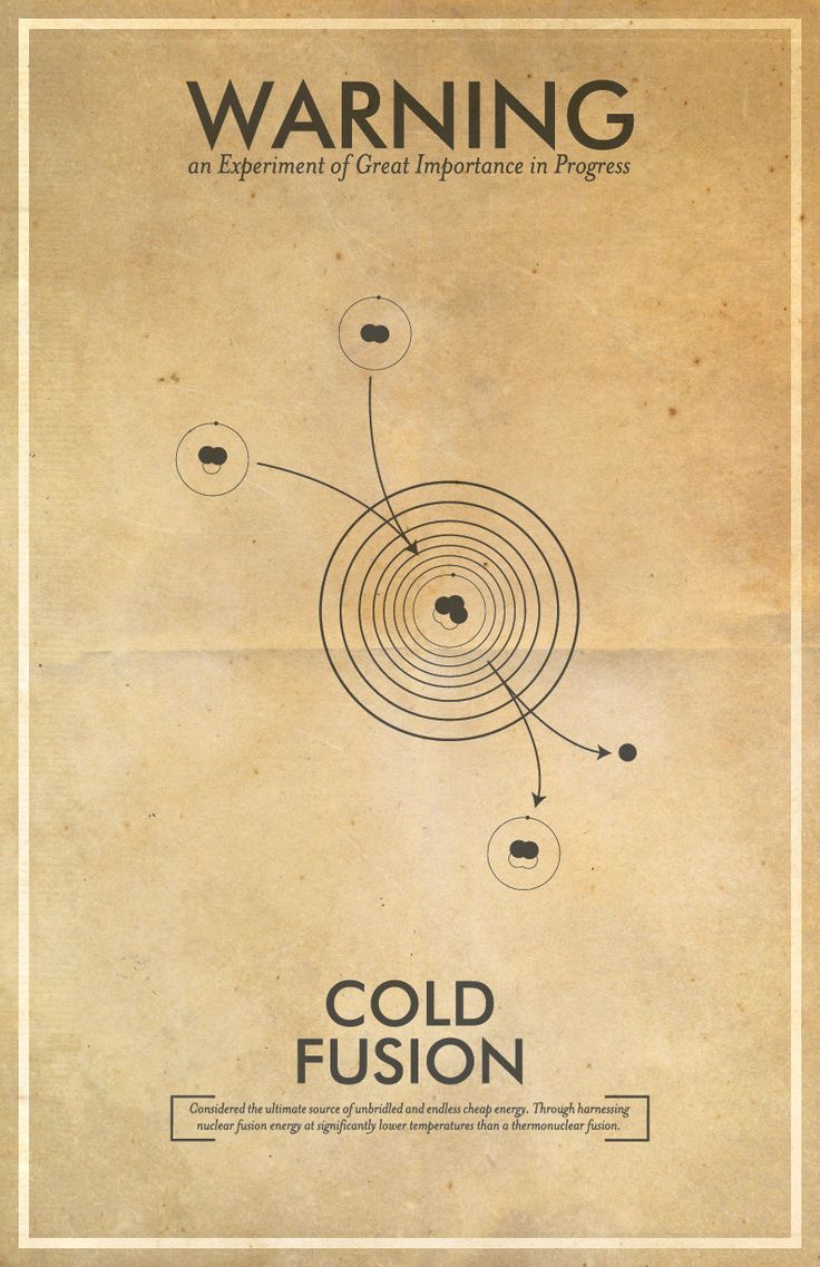 Fringe Science Warning Posters - Cold Fusion Inspired Vintage Iconography 11x17 Print. $18.00, via Etsy.