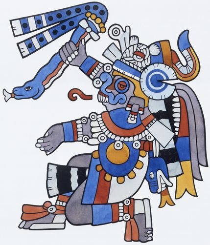 Aztec God: Tlaloc was the god of rain but he was also associated with agriculture and fertility. Because of his association with fertility, children were sacrificed to him.