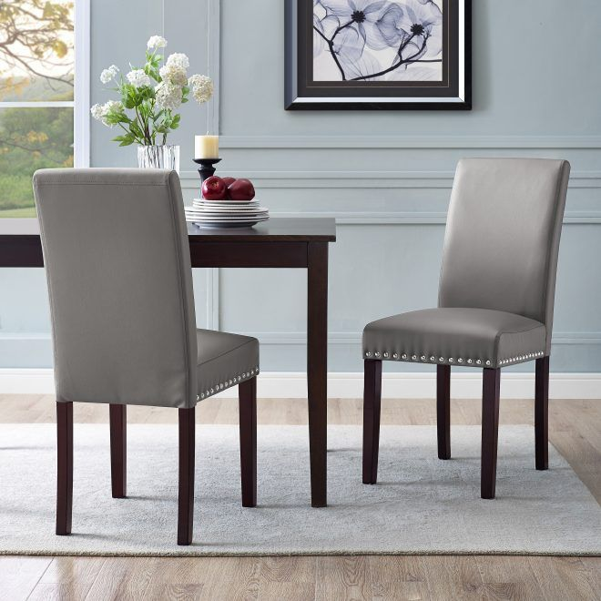 Leather Dining Room Chairs With Nail Heads Opnodes Faux