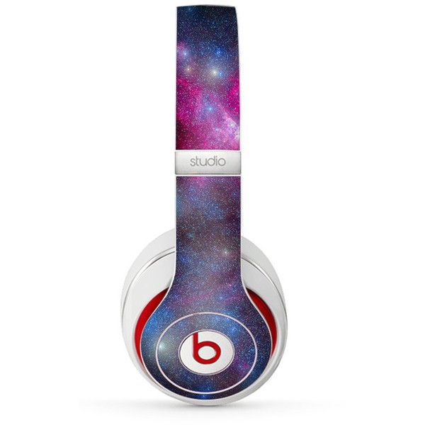 The Swirling Glowing Starry Galaxy Skin for the Beats by Dre... ($9.99) ❤ liked on Polyvore featuring accessories, tech accessories, headphones, beats by dr. dre, star headphones, beats by dr dre headphones and galaxy headphones