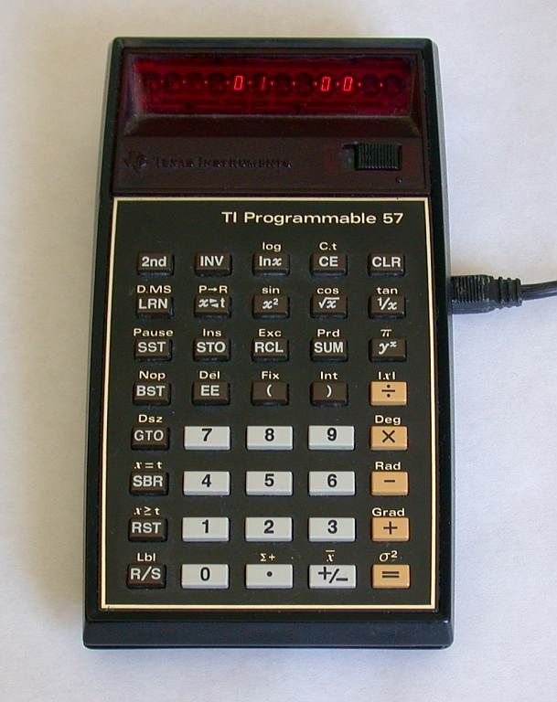 Texas Instruments calculator.  Finally I could find the sine and cosine without looking up the book using a ruler! :)